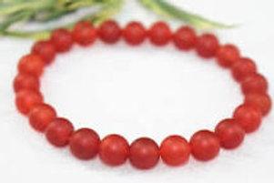 Red Agate 4 mm Bracelet