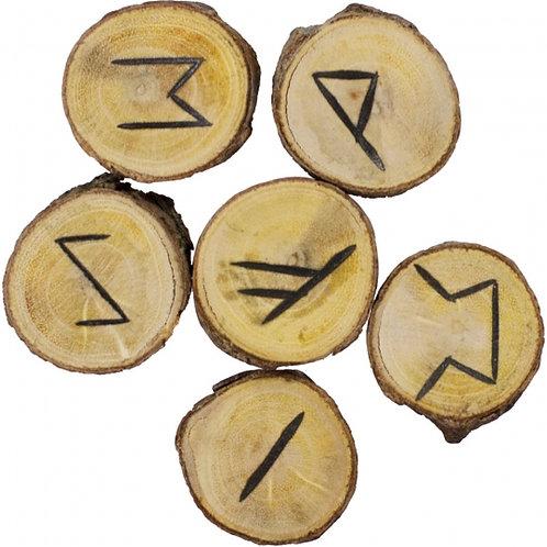 Poplar Wood Rune Set