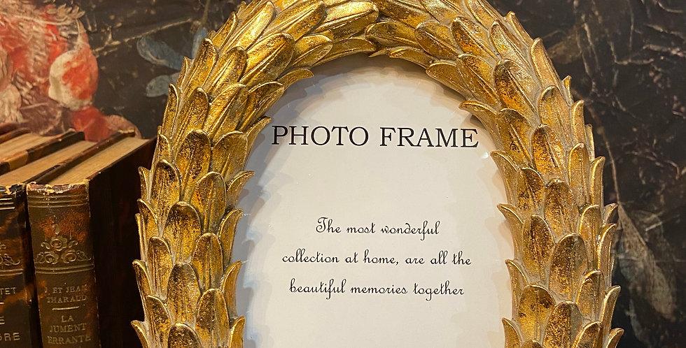 Cadre photo Feuille or grand modèle