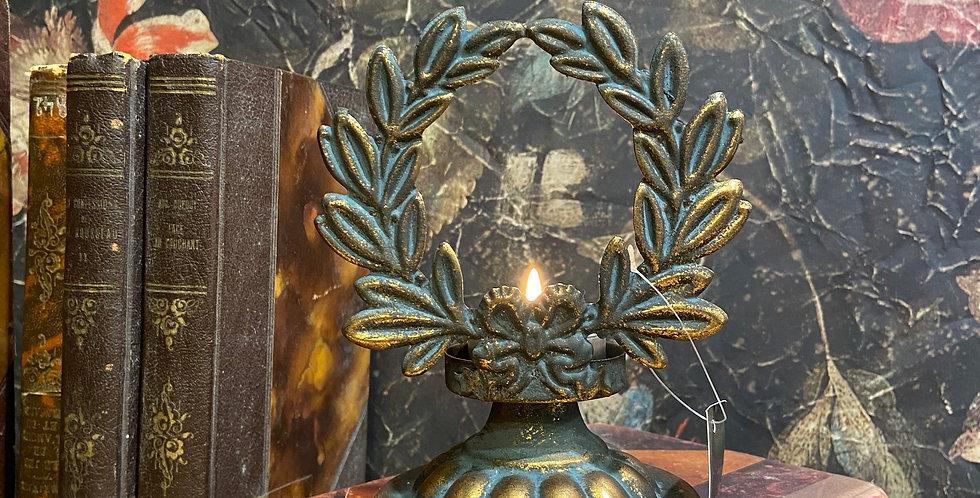 Bougeoir métal Couronne Or
