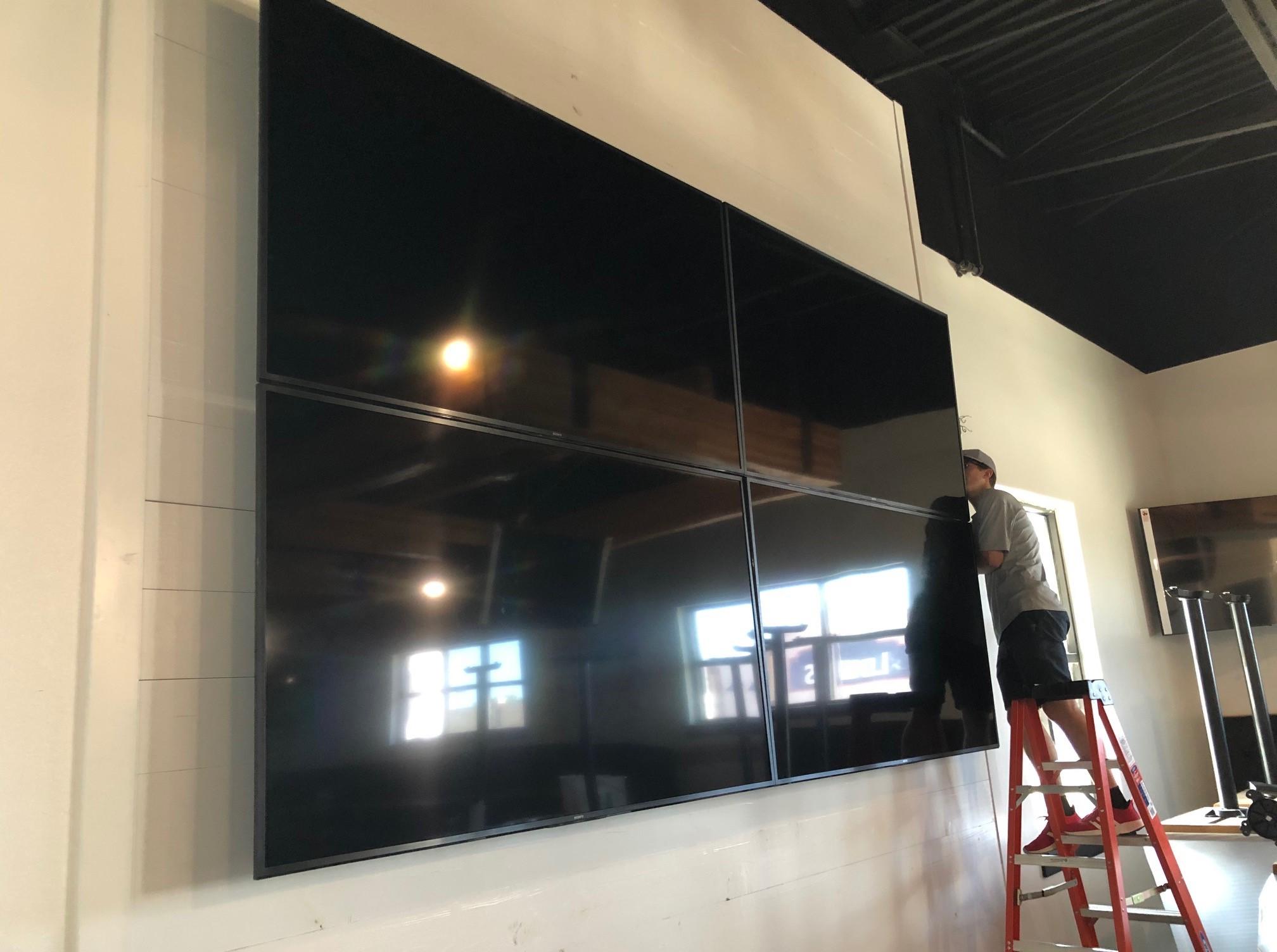 TaD's screen wall matrix install