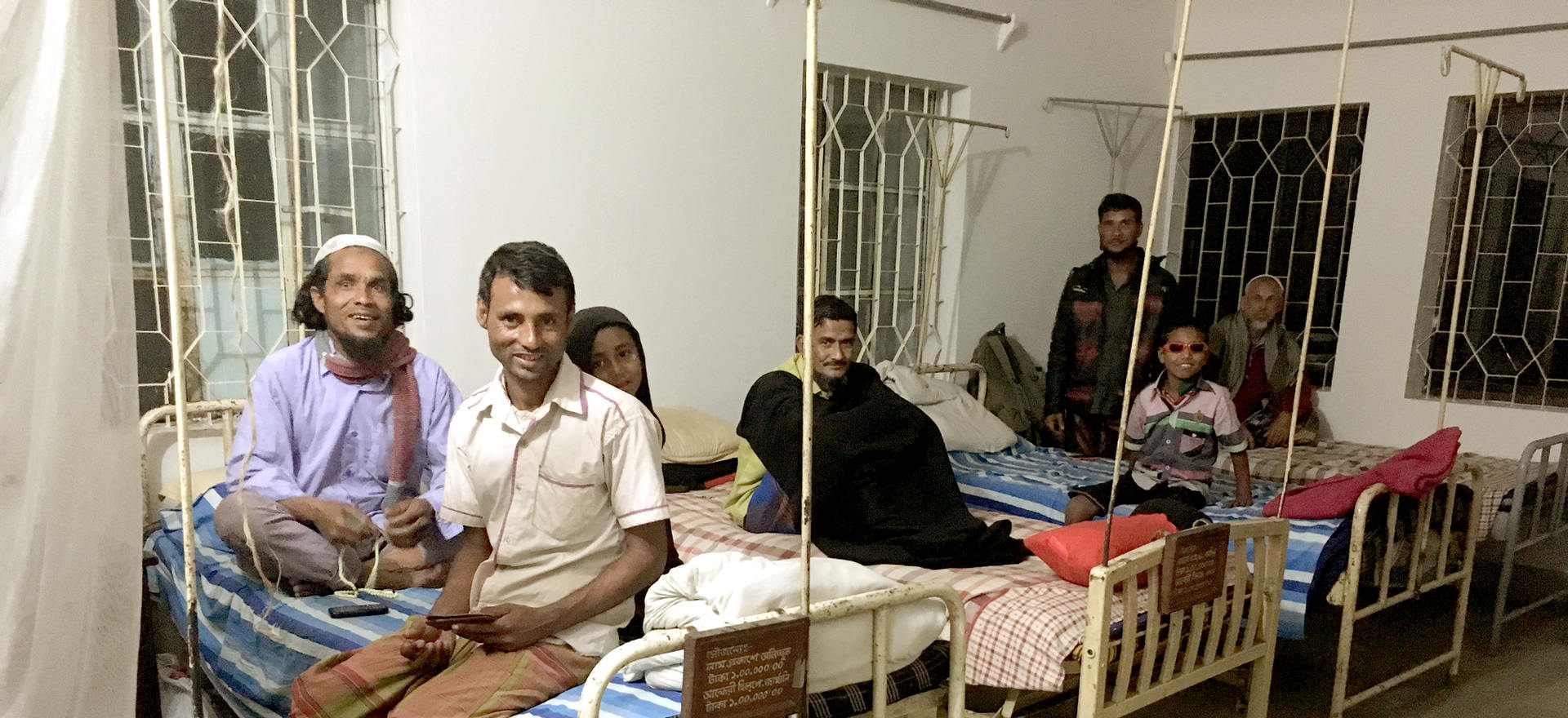 Patients at the hospital