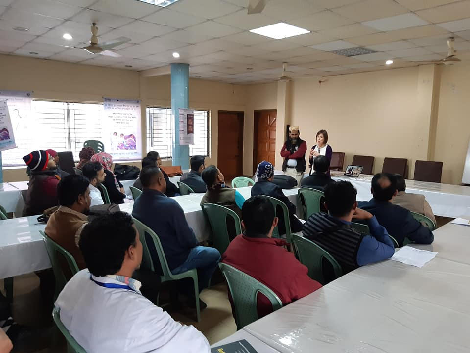 Meeting with hospital cleaners