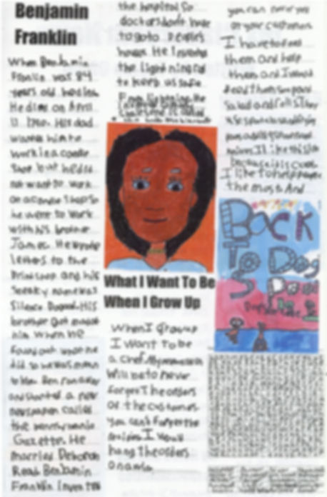newspaper created by a first-grade stuent