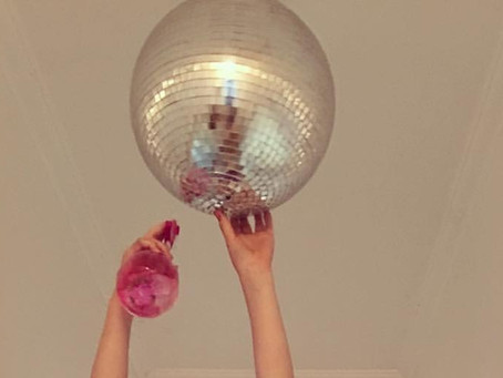 Spring cleaning & polishing the disco ball!