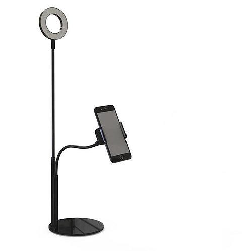 Live Stream Ring Light Phone Holder-White