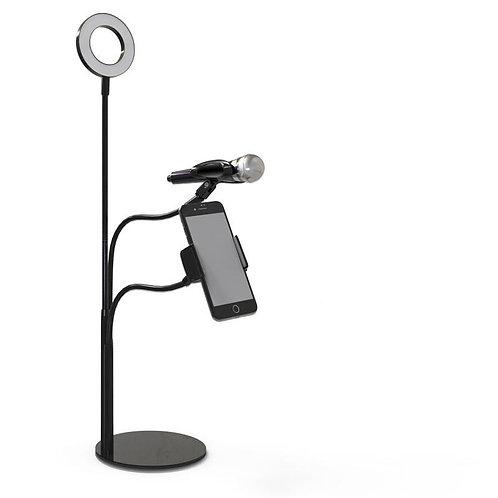 Live Stream Selfie Phone Holder-Black