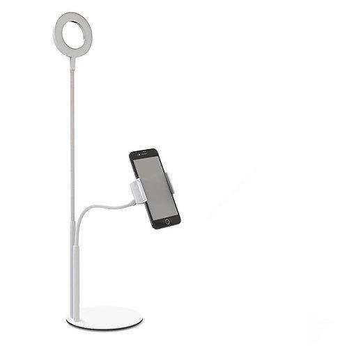 Live Stream Selfie Phone Holder-White