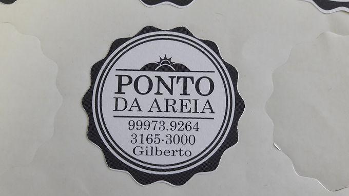 Adesivo de papel 5 x 5 cm - preto e branco