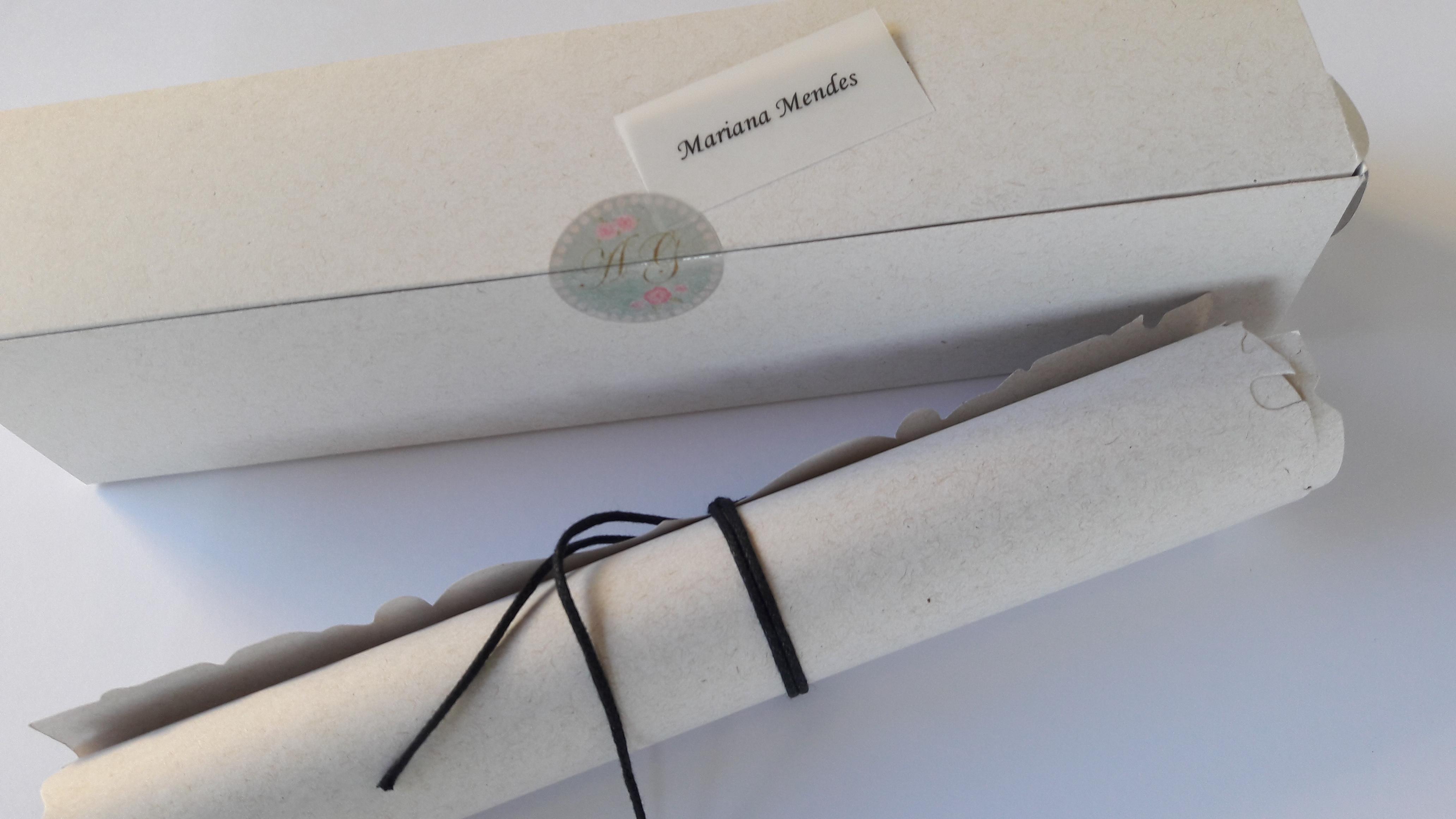 Convite 13 Reciclato com cordão CS05 + c