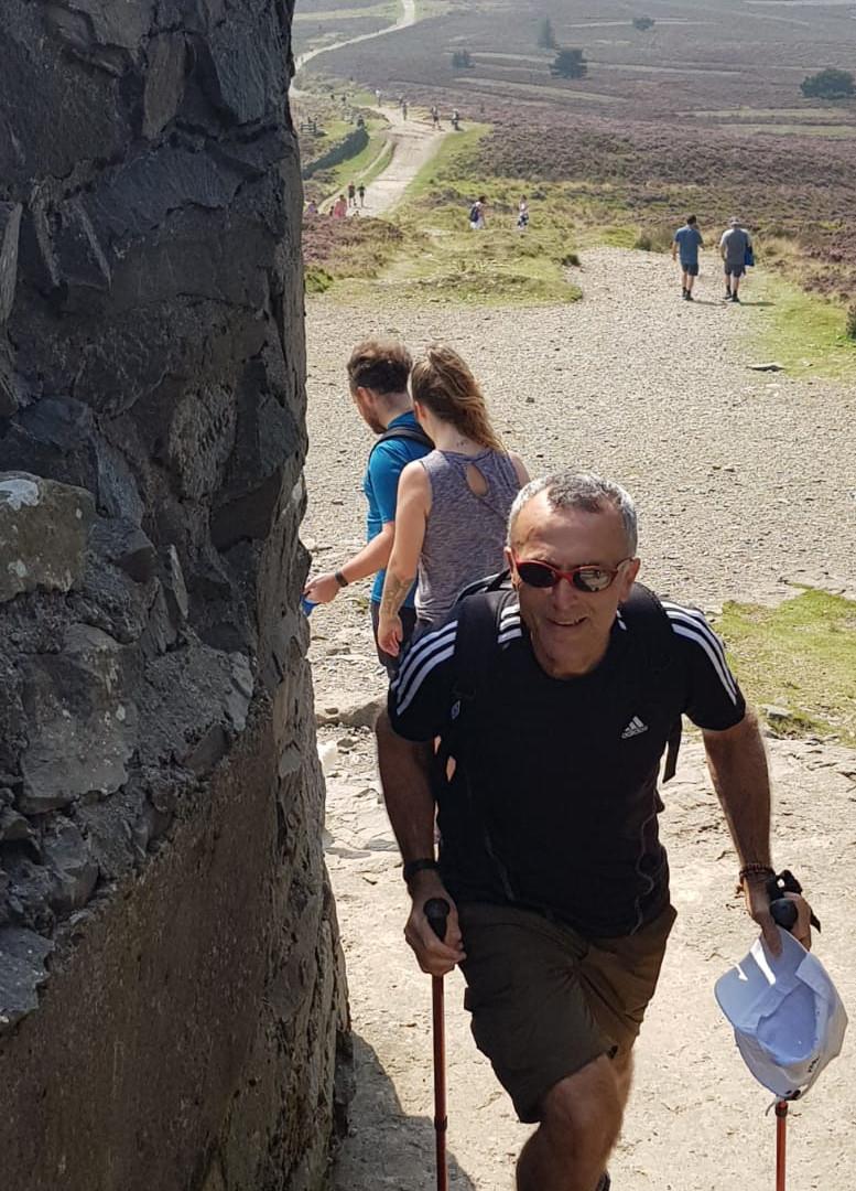 john reaches top of Moel Fammau.jpeg