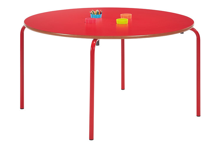Pen Pot Table Crushed Bent Red