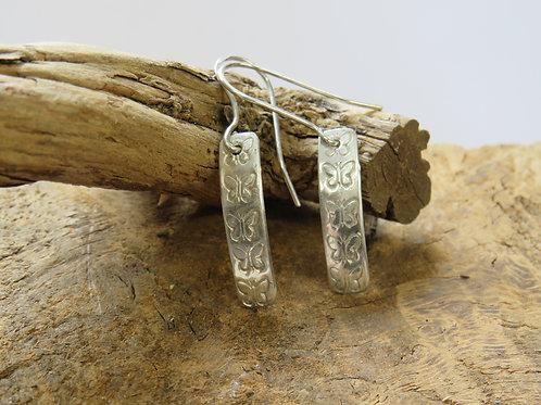 Sterling silver dangles. Butterfly earrings.