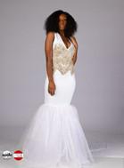 Bridal Mermaid Gown with rhinestone applique