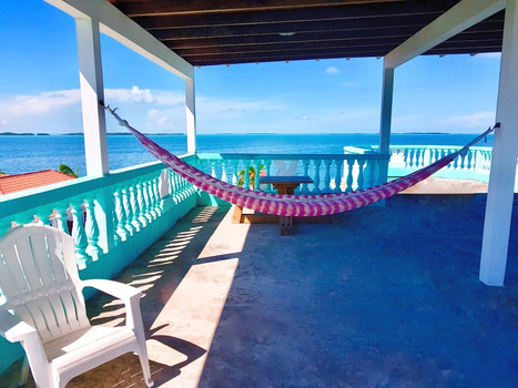 See Belize Roof Terrace overlooking the breathtaking Caribean Sea