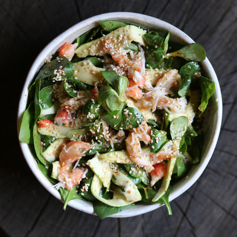 Lucky at home! Рецепт зелёного салата с крабом от шефа Lucky Izakaya Bar