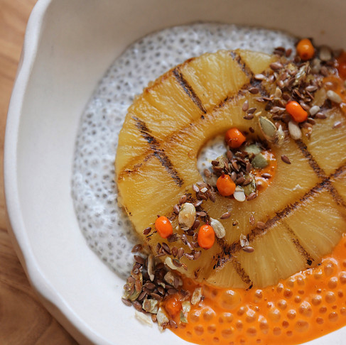 Lucky at home! Рецепт ананаса на гриле от шефа Margarita Bistro