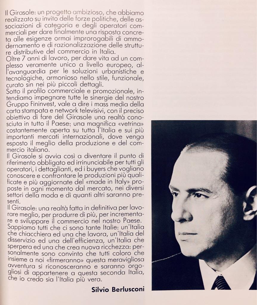Berlusconi presenta Il Girasole