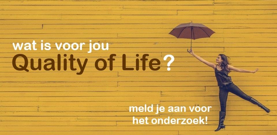 quality of life aanmelden voor onderzoek