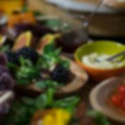 Vegetarische borrelplank