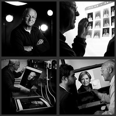 Fotograf Hans Jørgen Brun, Bergen, i arbeid, mørkerom