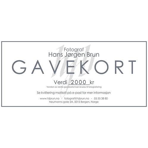 Gavekort 2000kr - TEST