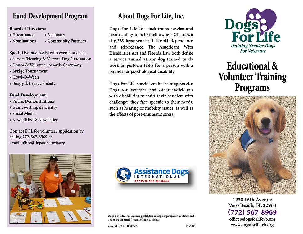 Education and Volunteer Brochure 8.13.20