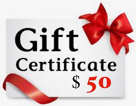 $50 Stirred Water Gift Certificate