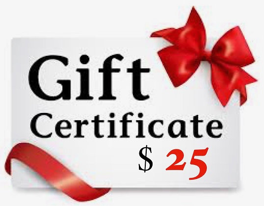 $25 Stirred Water Gift Certificate