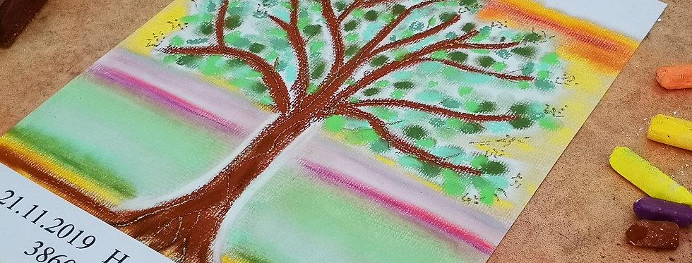 Geburtsbild Baummotiv