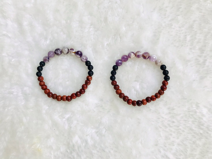 Amethyst Gemstone Diffuser Bracelet