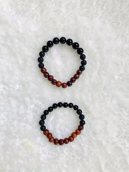 Onyx Gemstone Diffuser Bracelet