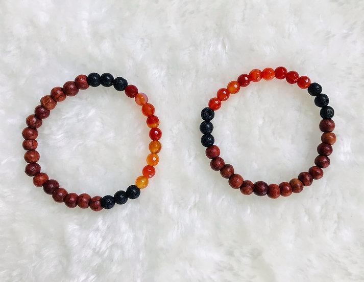 Carnelian Gemstone Diffuser Bracelet