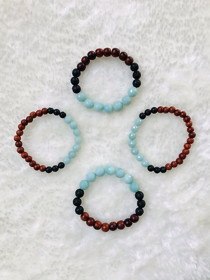 Amazonite Gemstone Diffuser Bracelet