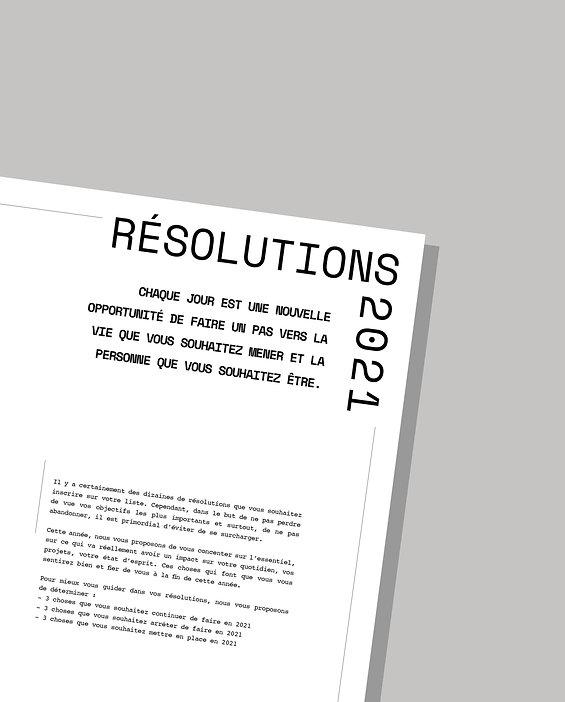 Mes résolutions 2021