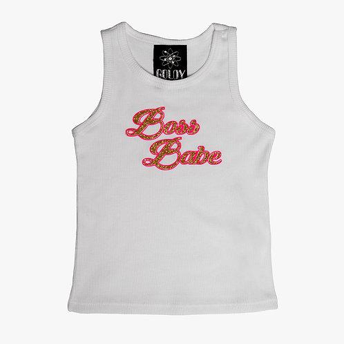 Boss Babe White Kids T Shirt