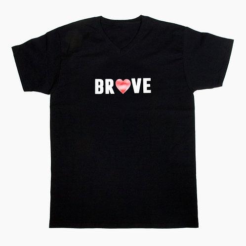 BRAVE Men's/Unisex Black T