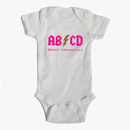ABCD Rocker Fundamentals White Onesie
