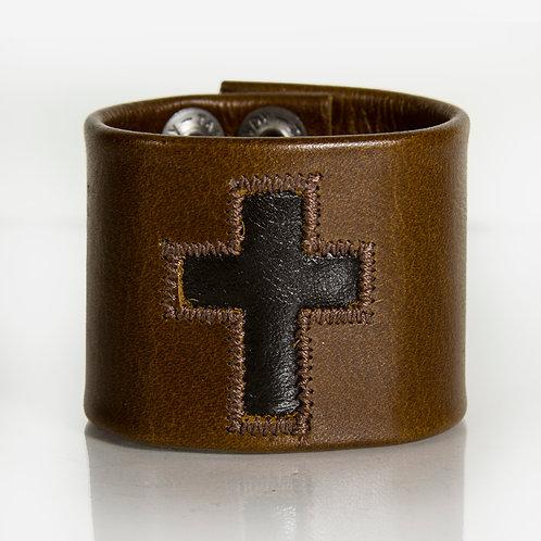 Black Cross on Brown