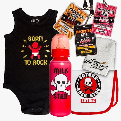 Born To Rock Onesie Baby Gift Set