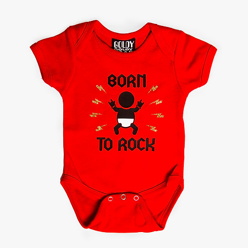 Born To Rock Red Onesie