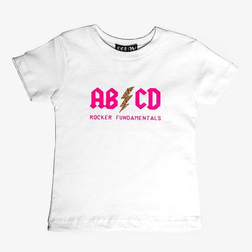 ABCD Rocker Fundamentals White Kids T Shirt