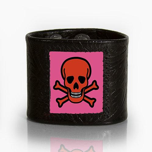 Pink Classic Skull Cuff