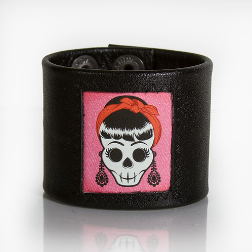 Hipster Skull with Bandanna Cuff