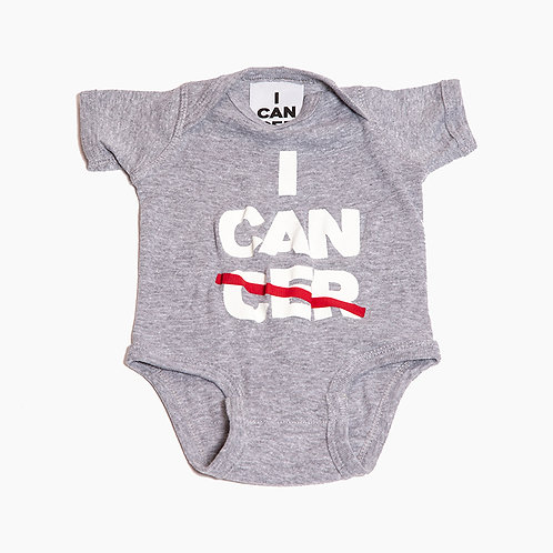 I CAN (CER) Baby Onsie Heather