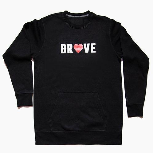 BRAVE Men's/Unisex Black Sweatshirt