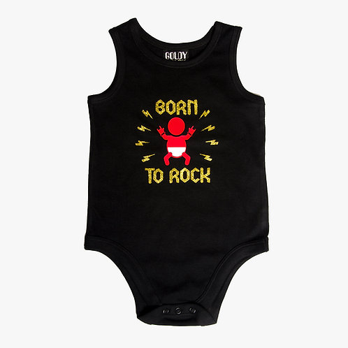 Born To Rock Black Onesie