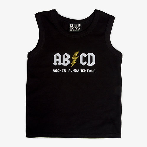 ABCD Rocker Fundamentals Black Kids T Shirt