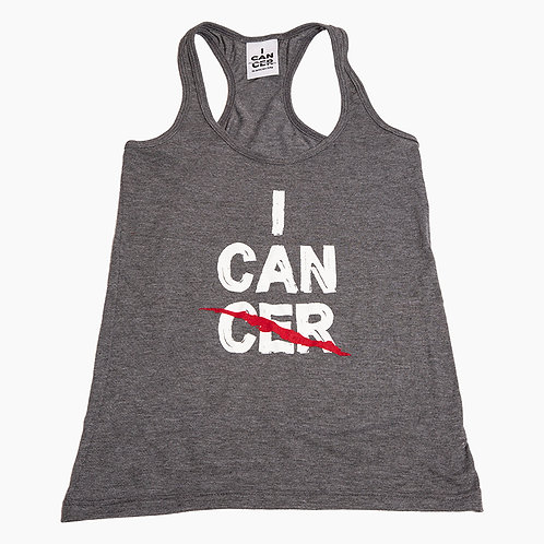 I CAN (CER) Racerback Tank Charcoal
