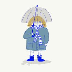 Sateenvarjotyttö